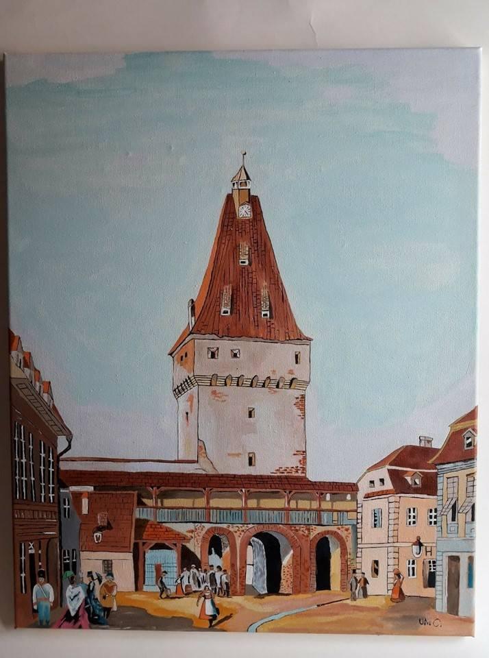 Poza Turnul Porții Cisnădiei