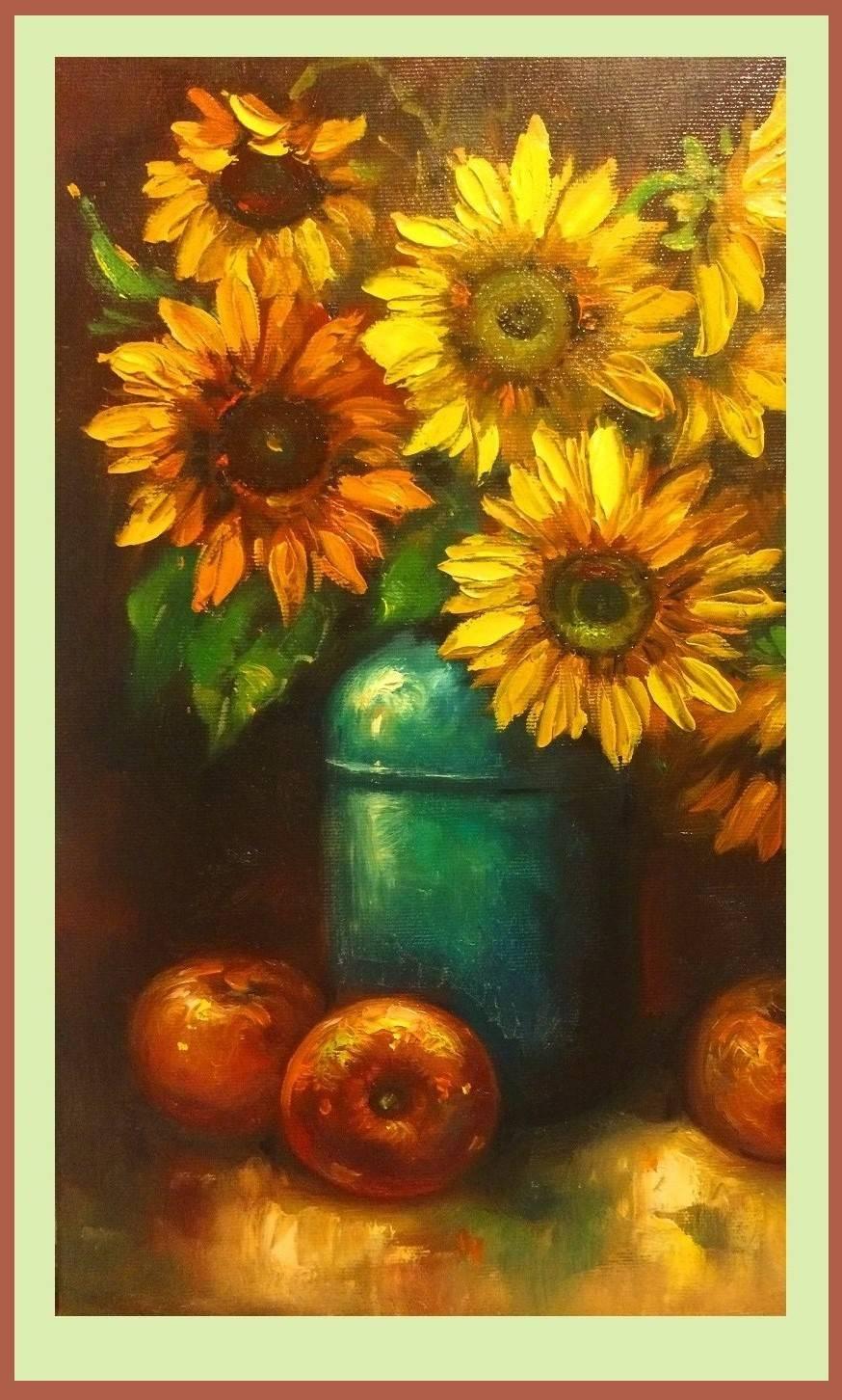 Poza vas cu floarea soarelui 3