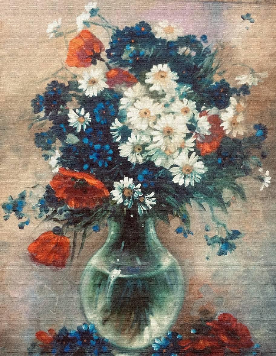 Poza vas cu flori de primavara