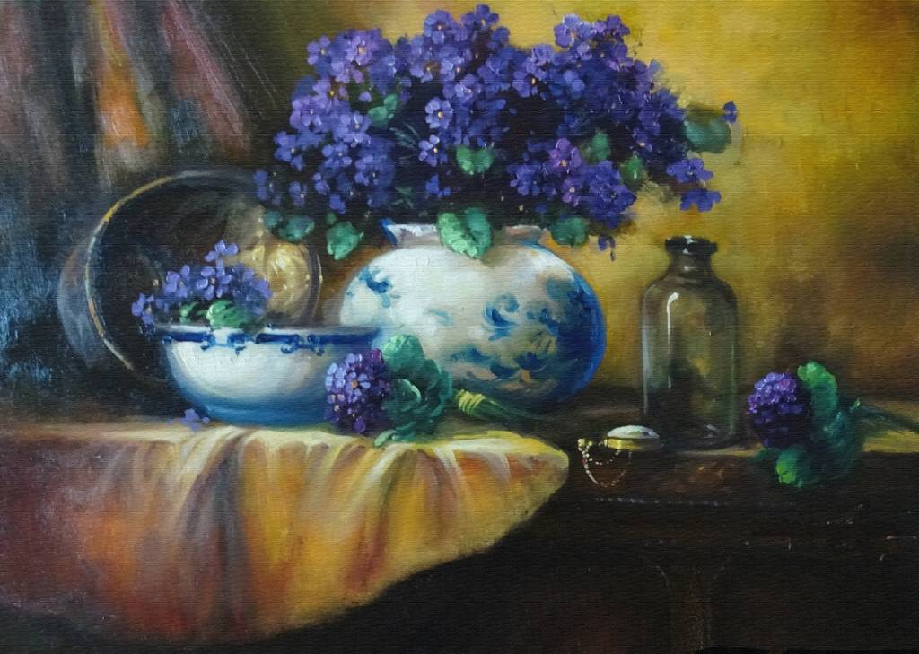 Poza vas cu violete 3