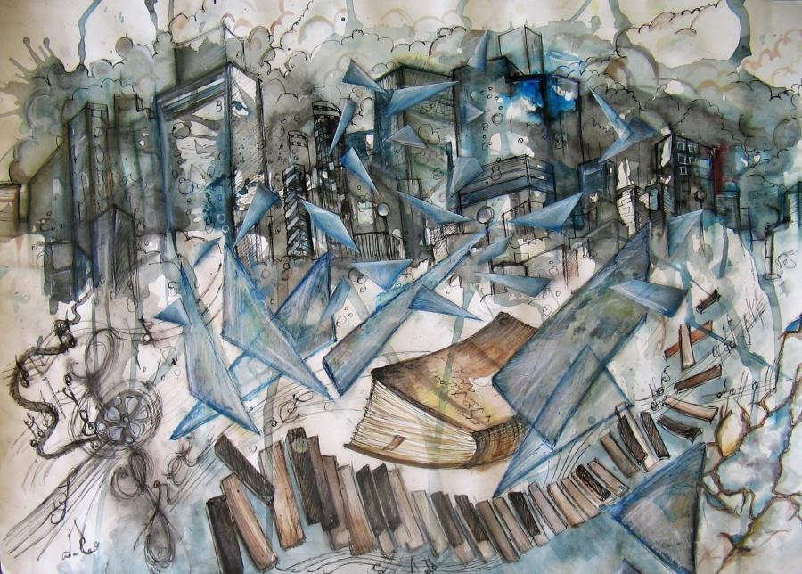 Picturi abstracte/ moderne Orga de gheata