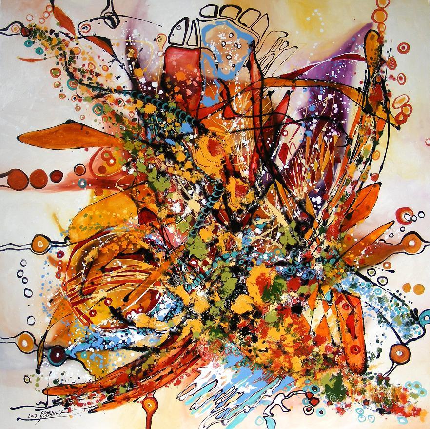 Picturi abstracte/ moderne Castana casteliana