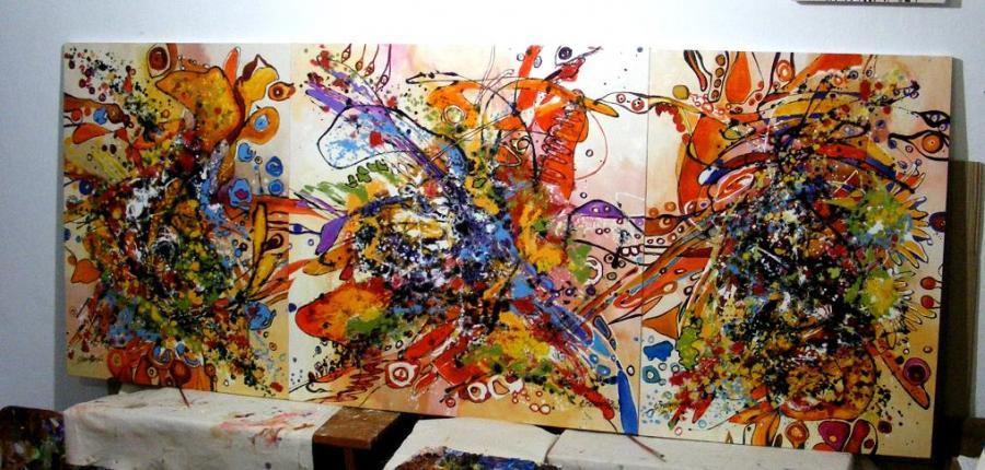 Picturi abstracte/ moderne Iubiri tomnatice