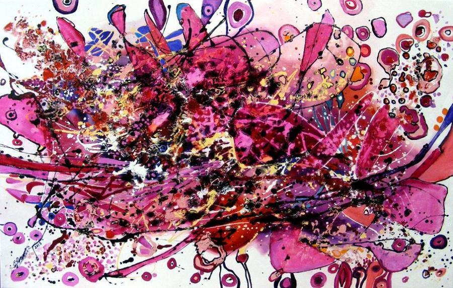 Picturi abstracte/ moderne Simfonie in roz