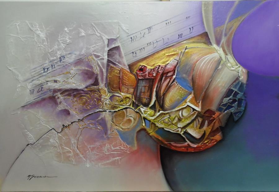 Picturi abstracte/ moderne armonie cosmica--x03