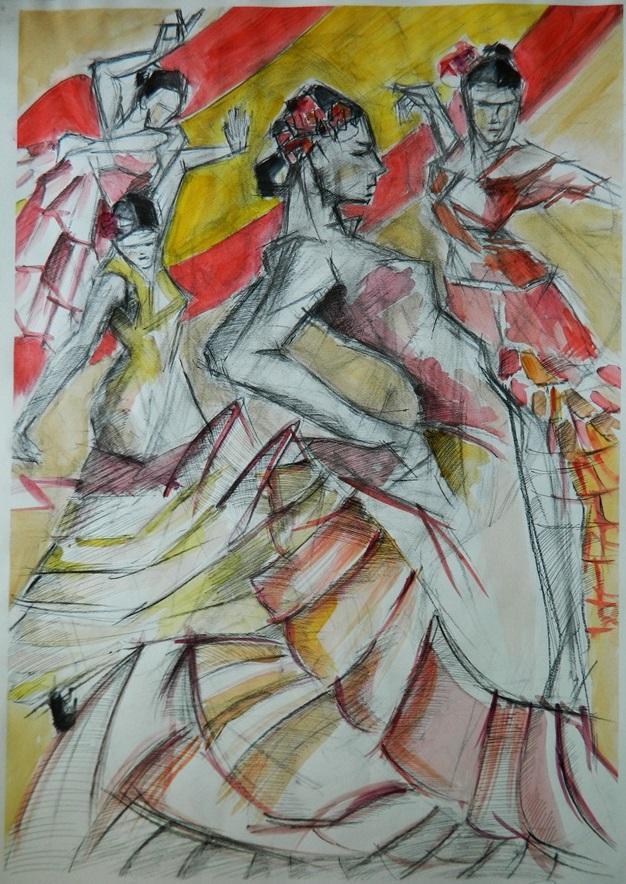 Picturi abstracte/ moderne flamenco.