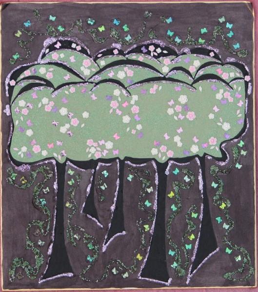 Picturi abstracte/ moderne Padure de cires in noapte