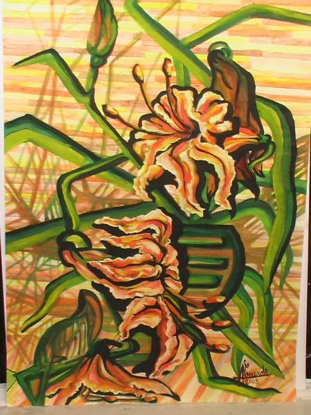 Picturi abstracte/ moderne Natura statica cu crini