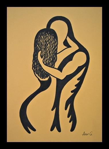 Picturi abstracte/ moderne Cuplu -