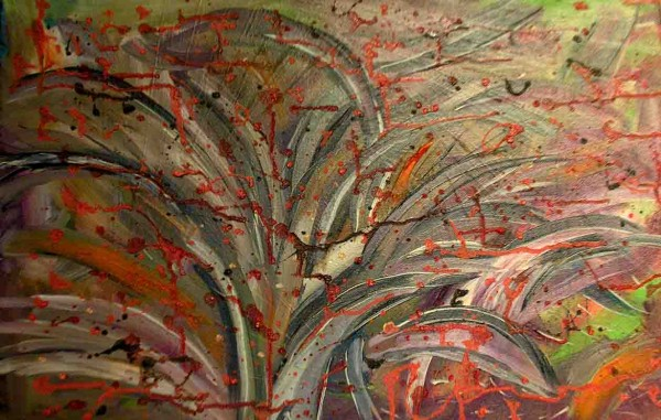 Picturi abstracte/ moderne Ploaie de foc