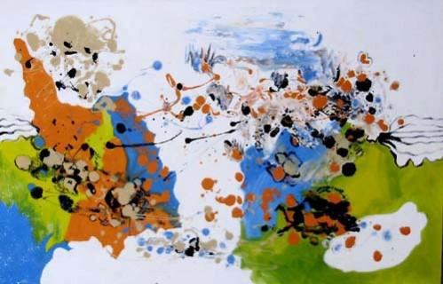 Picturi abstracte/ moderne Rapsodie de iarna