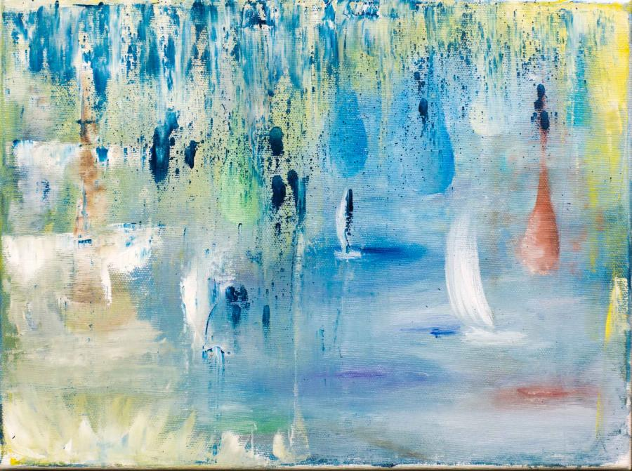 Picturi abstracte/ moderne plutind in deriva