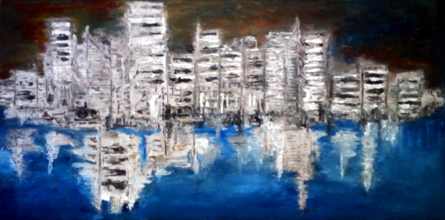 Picturi abstracte/ moderne Urban Reflections