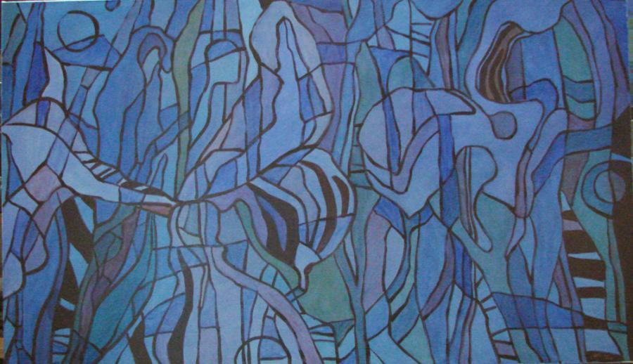 Picturi abstracte/ moderne flori de iris