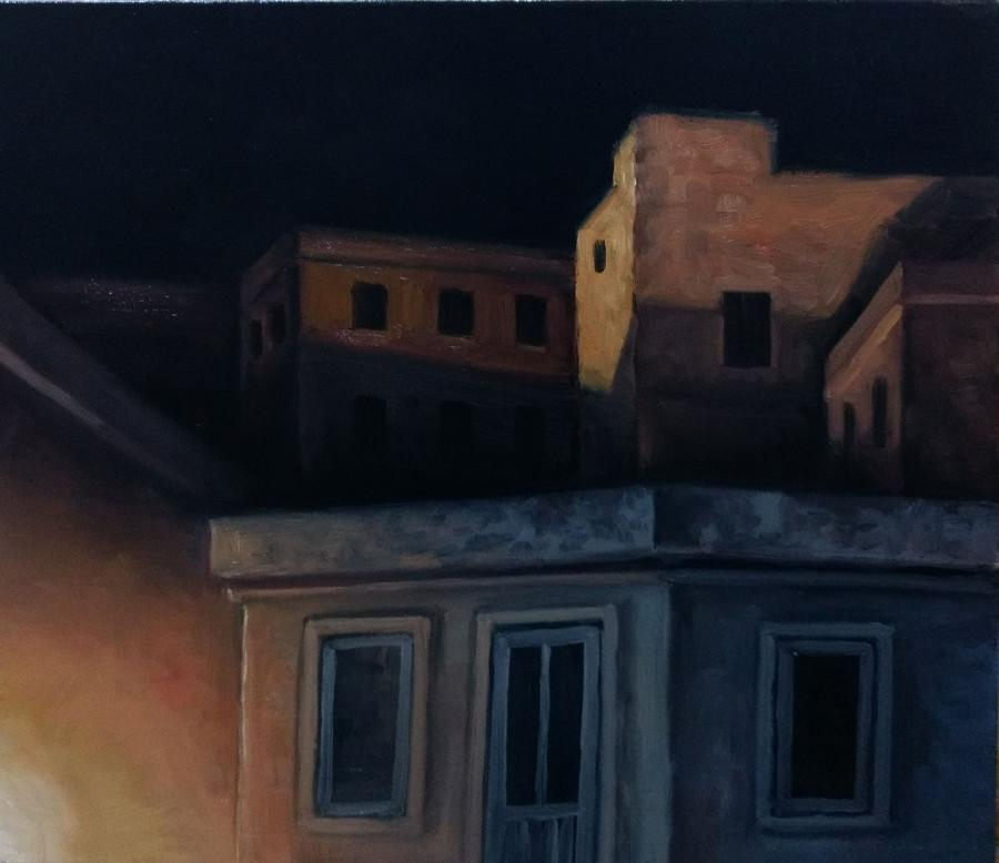 Picturi abstracte/ moderne nocturna citadina
