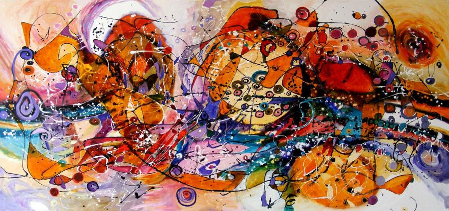 Picturi abstracte/ moderne Apus pe Mediterana