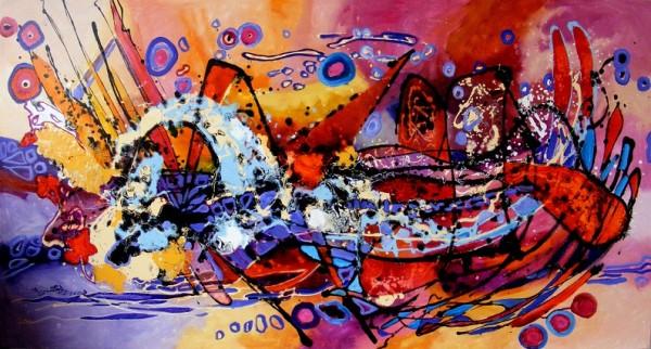 Picturi abstracte/ moderne Barca lui noe