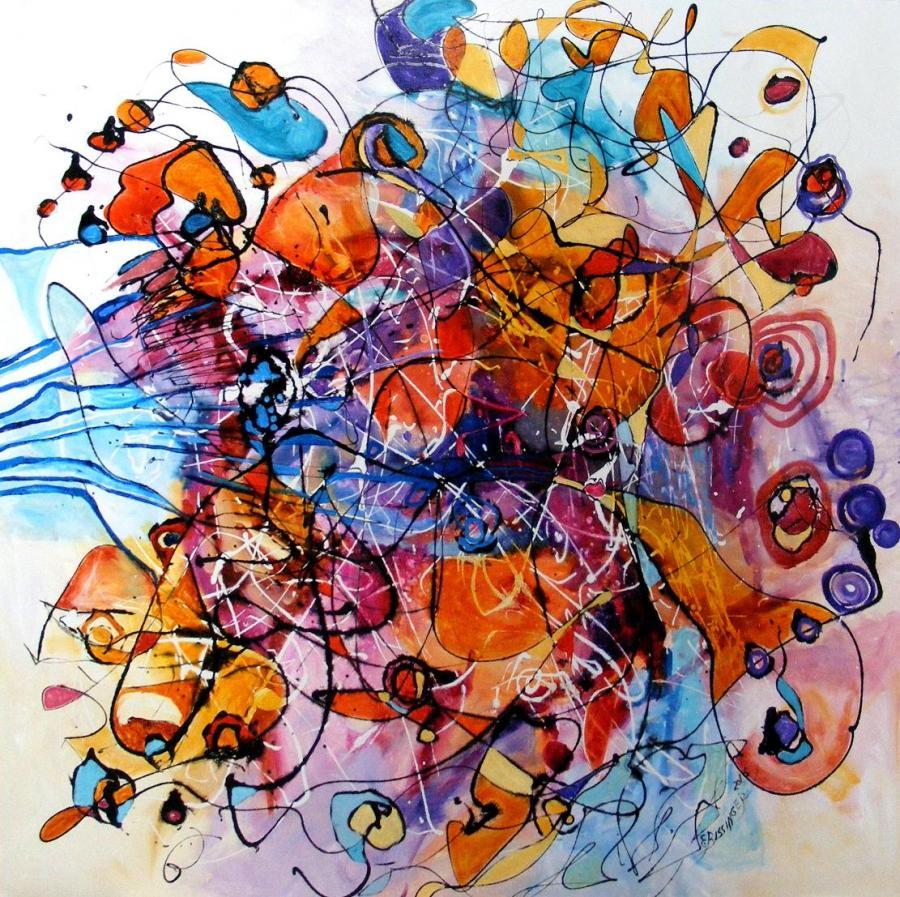 Picturi abstracte/ moderne Confetti