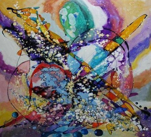 Picturi abstracte/ moderne Inca o iarna inca o poveste