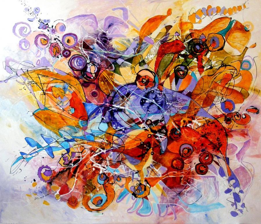 Picturi abstracte/ moderne Inger dansand Bolero