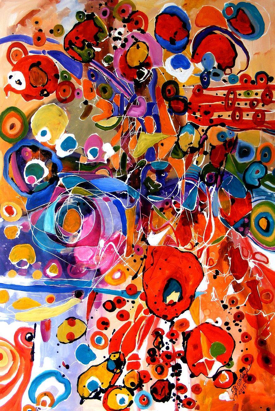 Picturi abstracte/ moderne   jocul primaverii
