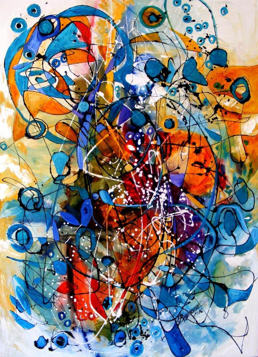 Picturi abstracte/ moderne Ochi de cer
