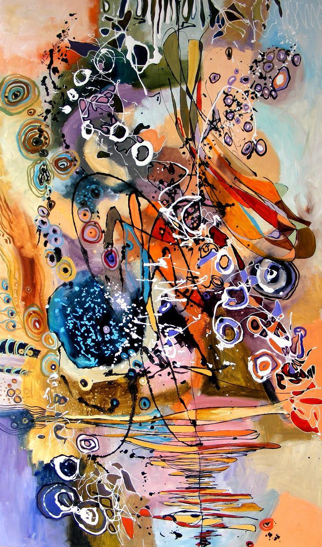 Picturi abstracte/ moderne Pulsul pamantului