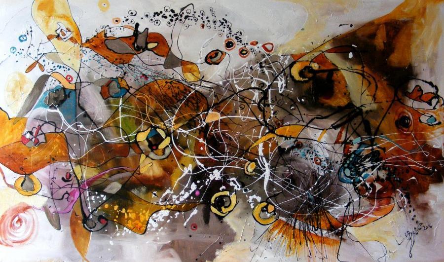 Picturi abstracte/ moderne Se plimba ploaia