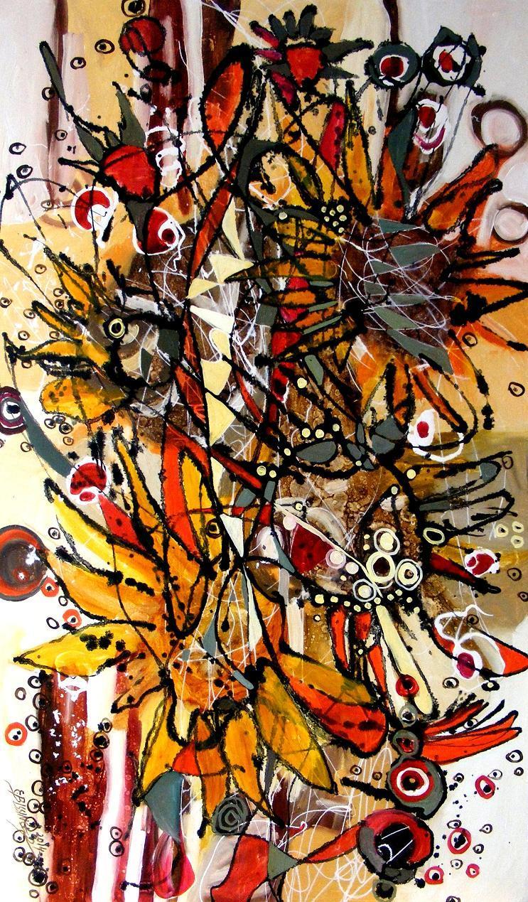 Picturi abstracte/ moderne Soarele de la miezul noptii