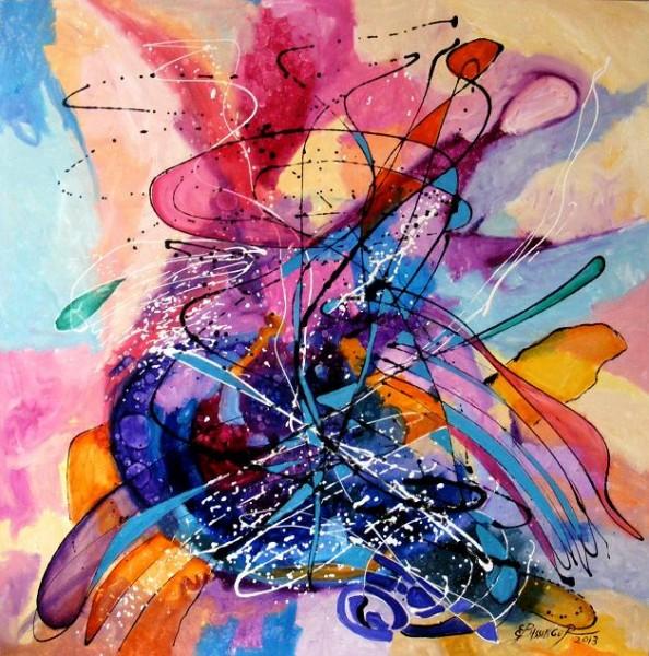 Picturi abstracte/ moderne Undeva in infinit
