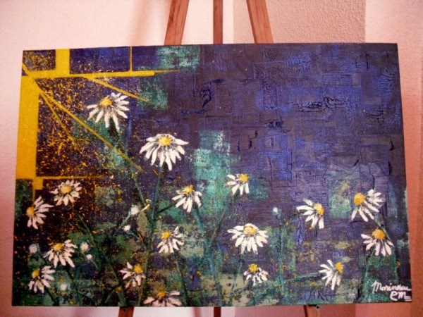 Picturi abstracte/ moderne Daisies - tangled hopes under a newborn sun