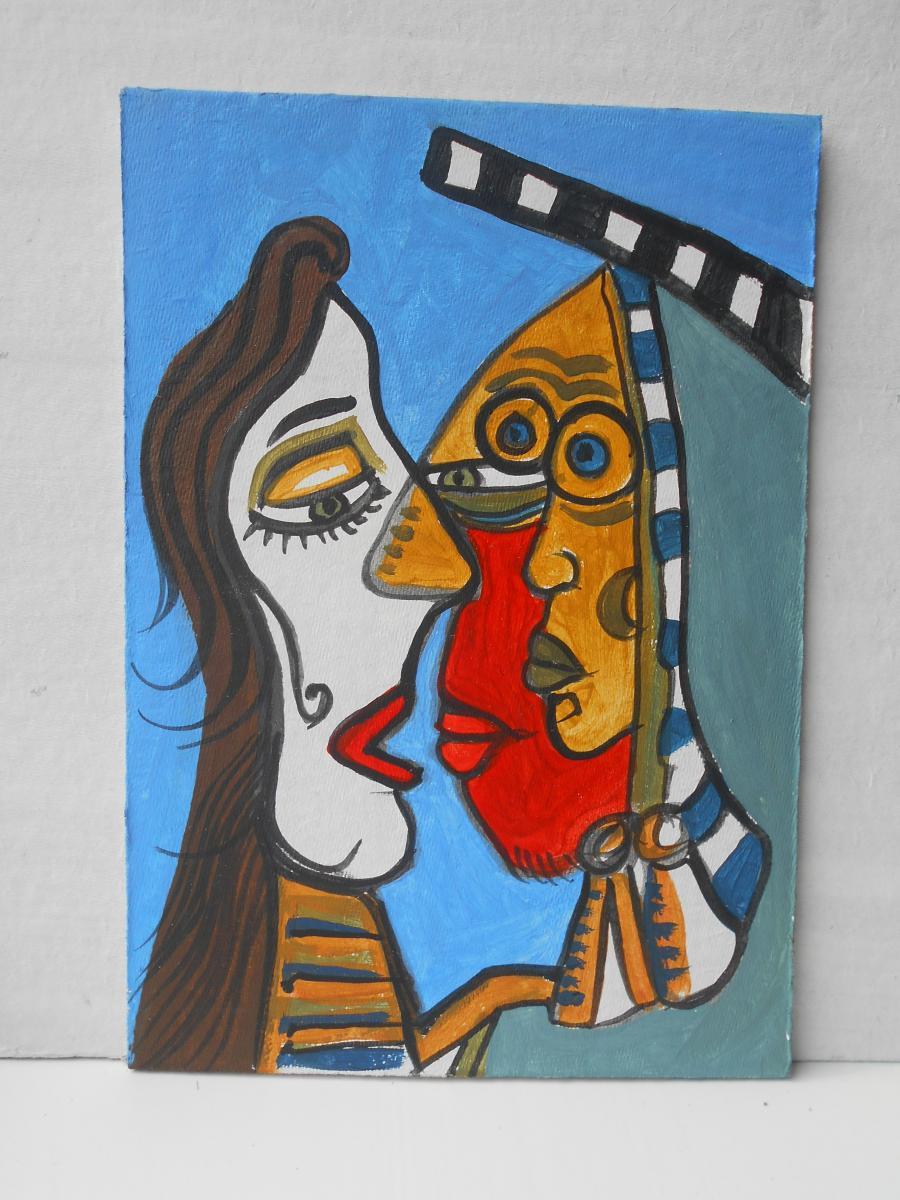 Picturi abstracte/ moderne Indian kiss