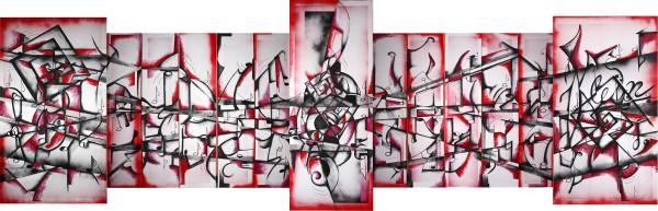 Picturi abstracte/ moderne Dansul visurilor fara glas