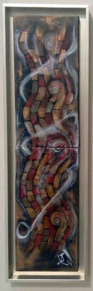 Picturi abstracte/ moderne Scurgerea zidului