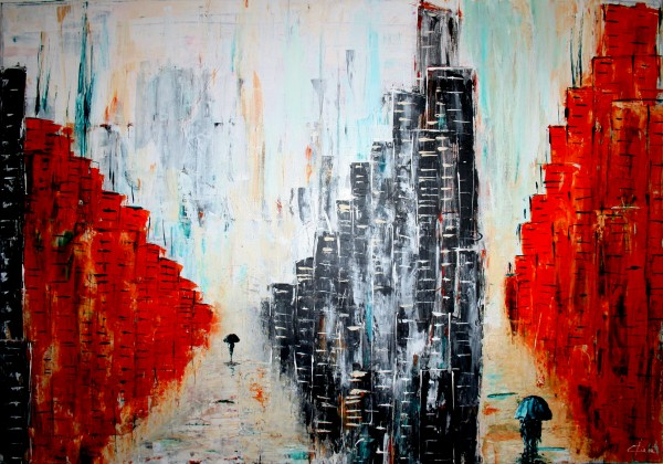 Picturi abstracte/ moderne Abstract city