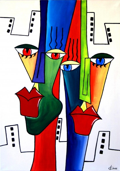 Picturi abstracte/ moderne Urban people