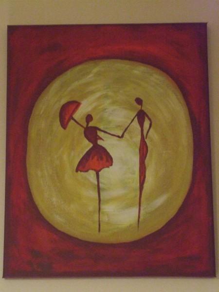 Picturi abstracte/ moderne In doi
