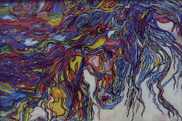 Picturi abstracte/ moderne Culoarea vantului