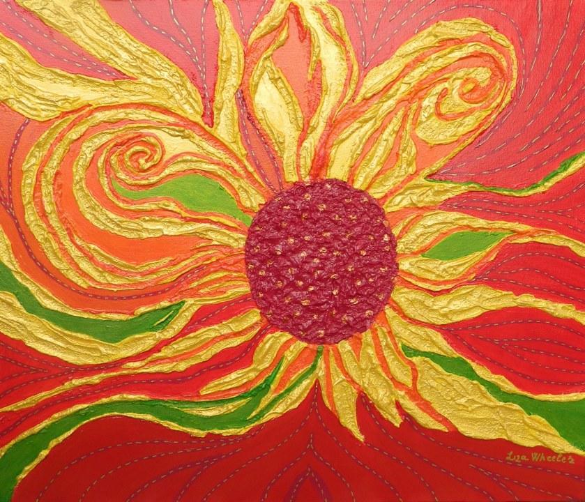 Picturi abstracte/ moderne Zile aurii de vara
