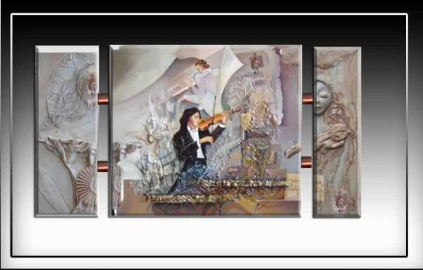 Picturi abstracte/ moderne  sunetul muzicii---92
