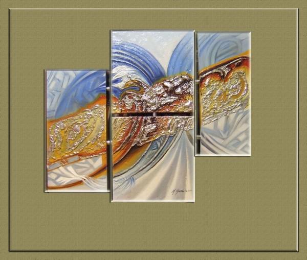 Picturi abstracte/ moderne  triptic---67