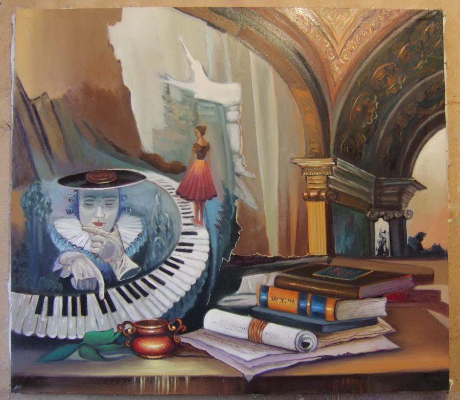 Picturi abstracte/ moderne acorduri muzicale in palat regal--5v2