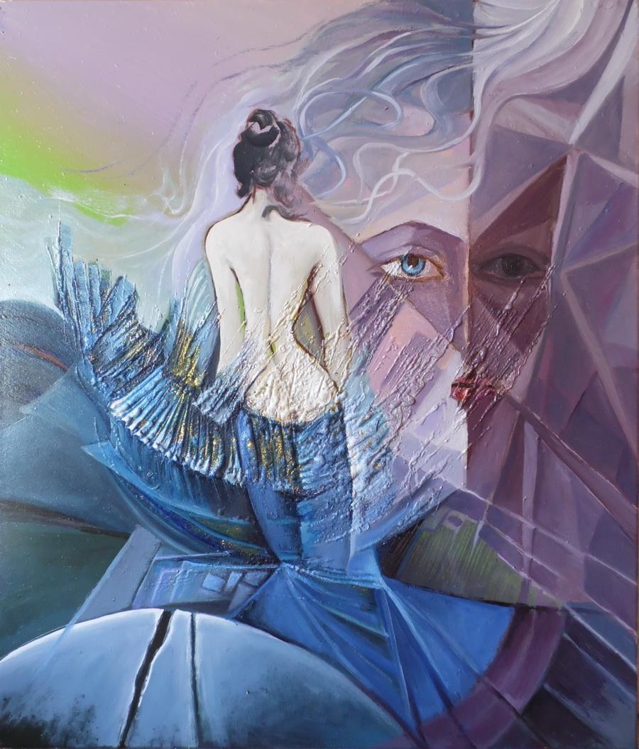 Picturi abstracte/ moderne danseaza in strae lunare   xx11