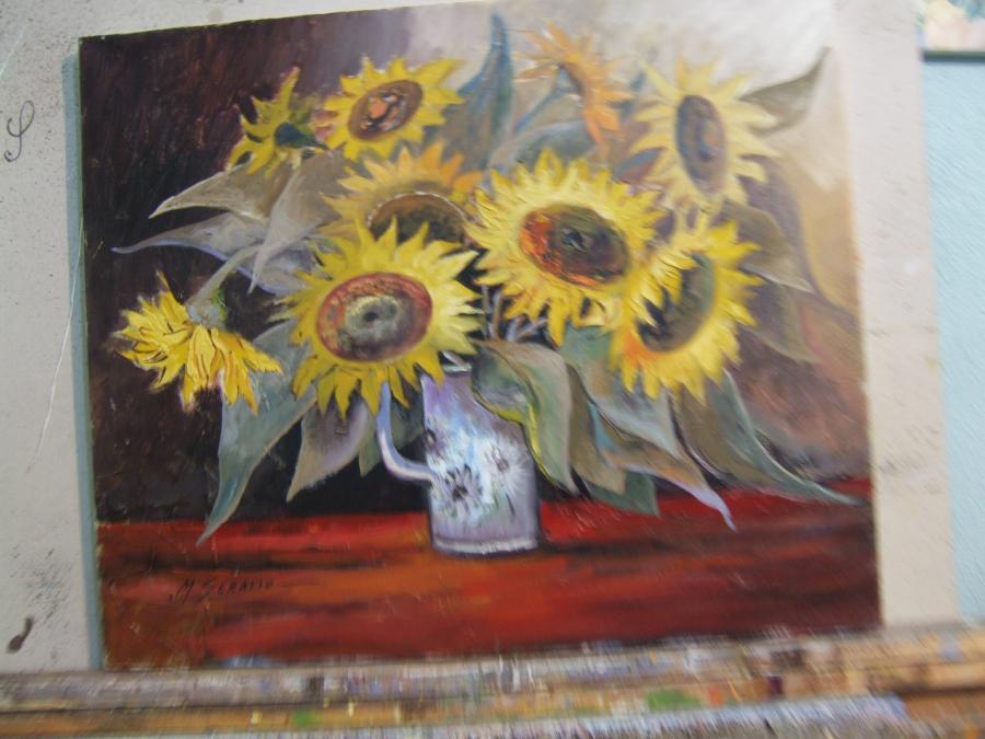 Picturi cu flori floareasoarelui x1