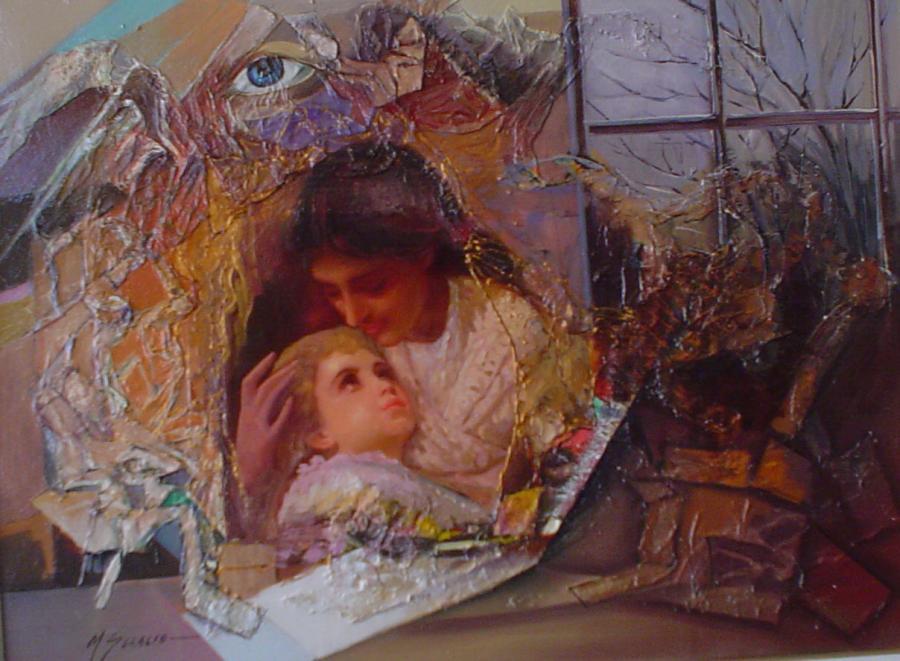 Picturi abstracte/ moderne maternitate  8n