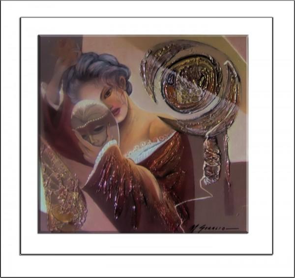 Picturi abstracte/ moderne Portret rafinat--t7