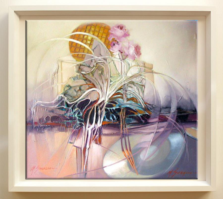 Picturi cu flori reflexe cu sclipiri de briliant    9