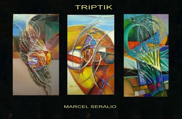 Picturi abstracte/ moderne Triptic---86