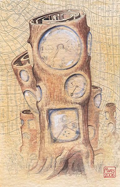 Picturi abstracte/ moderne Copacul ceas