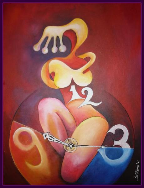 Picturi abstracte/ moderne ,,regina timpului,,